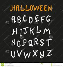 hand drawn halloween font stock vector image 45159092