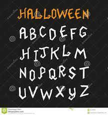 Hand Drawn Halloween Font Stock Vector Image 45159092