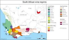Africa Maps by South Africa Map Of Vineyards Wine Regions