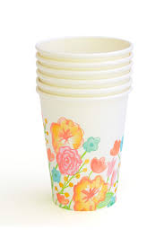 party cups floral party cups gartner studios