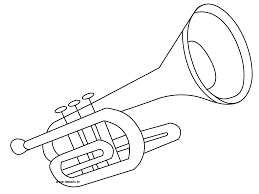 coloring trumpet coloring pages pinterest trumpets
