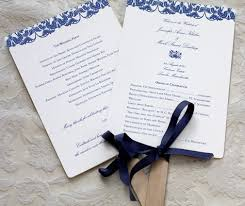 wedding ceremony fans summer wedding programs fans letterpress wedding invitation