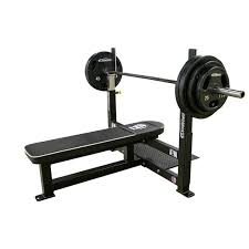Straight Bench Press Pro Series Olympic Flat Bench Legend Fitness