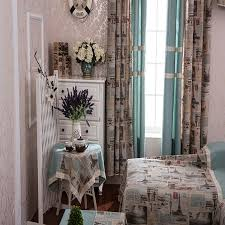 foreign style printing french country style curtains