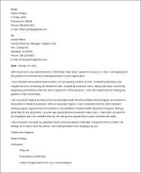 sample cover letter for medical assistant 8 examples in word pdf