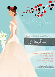 bridal shower invitation templates disney bridal shower
