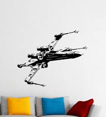 online get cheap spaceship wall decal aliexpress com alibaba group c014 x wing fighter wall decal star wars spaceship vinyl sticker art decor mural free