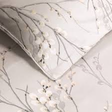 willow dove grey printed duvet cover cottage bedroom