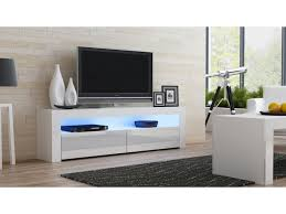 White Tv Cabinet With Doors White Gloss Tv Stand 157 Concept Muebles Within Tv Stands
