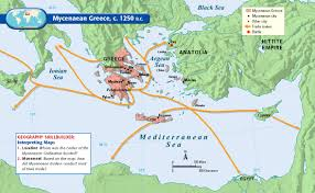 Map Of Ancient Greece by Mycenaean Trade Routes C 1250 Bc The Ancient Mariners