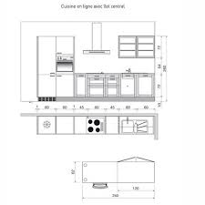 plan de cuisine en ligne plan de cuisine en i avec îlot central maison