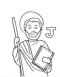 james the less saints to color