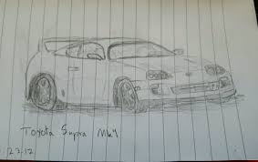 toyota supra drawing toyota supra mk4 i tried not my best not my worst