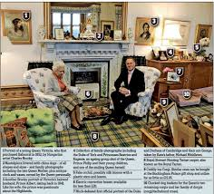 pictured the queen u0027s sitting room at balmoral and a photo of
