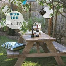 Furniture Enjoy Your Backyard With Perfect Picnic Tables Lowes by Outdoor Dining For Under 100 City Farmhouse