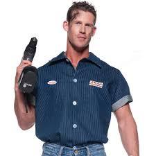 Blue Man Halloween Costume Mechanic Shirt Halloween Costume Walmart