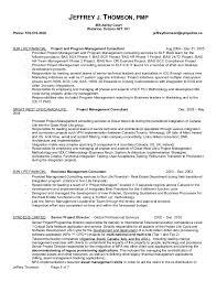 Sample Federal Budget Analyst Resume by Jeffrey J Thomson Resume Dec 2014