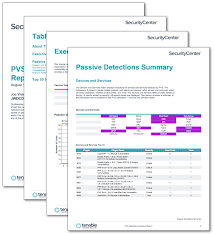 pvs detections executive report sc report template tenable