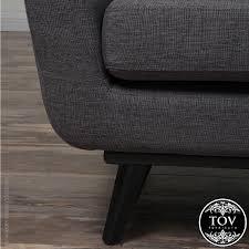 Gray Linen Sofa by James Grey Linen Sofa Tov Furniture Metropolitandecor