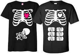 Twin Pregnancy Halloween Costumes Maternity Halloween Shirt Costume Rib Cage Baby Skeleton