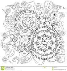 doodle flowers and mandalas stock vector image 63881171