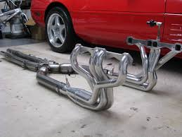 c4 corvette mufflers best complete 3 exhaust system with headers