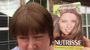dark hair after 70 garnier nutrisse 70 dark natural blonde results youtube