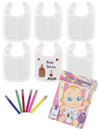 Drawing Games Baby Shower Bibs Drawing Game Amazon Co Uk Kitchen U0026 Home