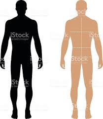 fashion man solid template figure silhouette with marked body