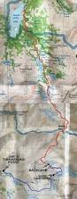 Sierra High Route Map by Bishop Pass To Dusy Basin Backpacking Guide Bearfoot Theory