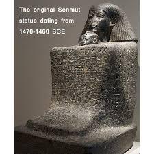 egyptian statue senmut princess nefrua