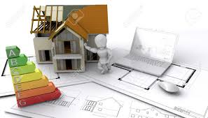 contemporary style house under construction stock photo picture