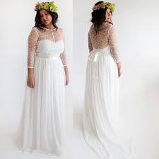 sleeve wedding dresses for plus size discount bohemia sleeve wedding dresses 2016 for cheap