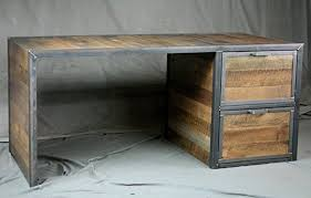 Reclaimed Wood File Cabinet Reclaimed Wood Desk With File Cabinet Drawers