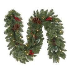 9 x 20 pre lit white artificial spruce garland