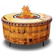 Wine Barrel Patio Table Inspiring Wine Barrel Gas Pit And Patio Table Wine Barrel