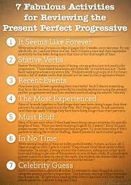 present perfect progressive english grammar pinterest