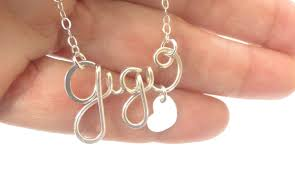 Custom Made Name Necklace Silver Name Necklace Personalized Name Necklace Gold Name