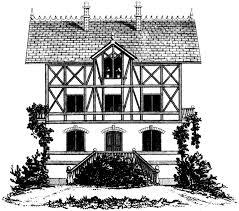 Tudor House by Vintage French Tudor House Image The Graphics Fairy
