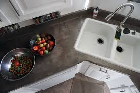 Countertop Kitchen Sink Lovely Imperfection Diy Concrete Countertops Laminate