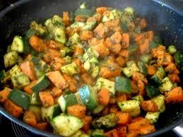 cuisiner patate douce poele wok rapide de courgettes patates douces