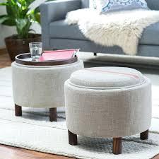 ottoman small storage ottoman with tray home design ideas round