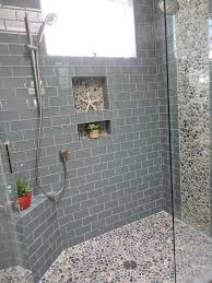 Gray X Subway Glass Tile Beyond Tile  Home Decorating - Floor bathroom tiles 2