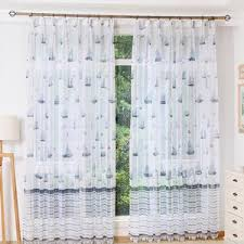 Nautical Room Divider White Nautical Pinch Pleated Room Divider Sheer Curtains