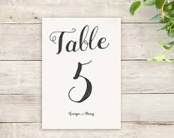 wedding table numbers template watercolor wedding table numbers template lovely