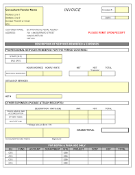 consultant invoice template doc invoice example