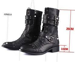 2015 top cool punk rock men u0027s high ankle fashion army boot shoe