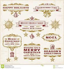 vintage christmas labels royalty free stock photos image 27997238