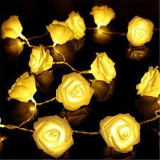 amazon com kingso 20 led battery operated rose flower string