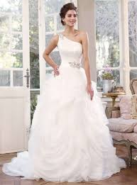 one shoulder wedding dresses buy cheap gorgeous wedding gown features jeweled one shoulder